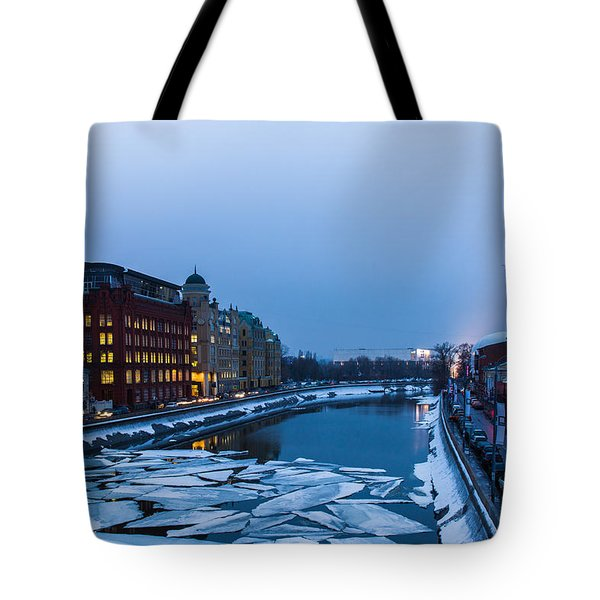 Bypass Canal Of Moscow River - Featured 3 Tote Bag by Alexander Senin