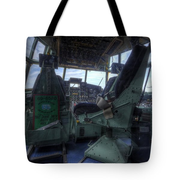 C-130 Cockpit Tote Bag