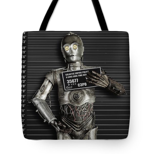 C-3po Mug Shot Tote Bag