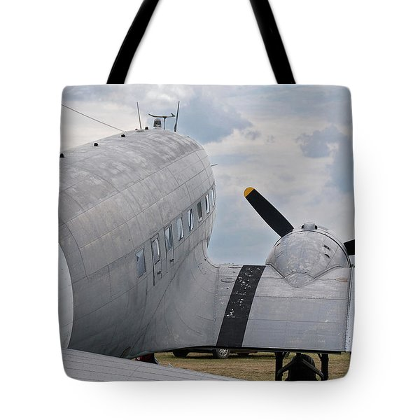 Tote Bag featuring the photograph C-47 3880 by Guy Whiteley
