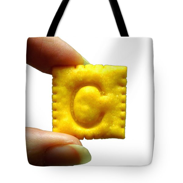 Tote Bag featuring the photograph C For Cheese Cracker by Pete Trenholm