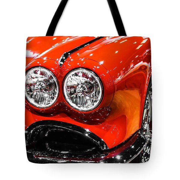 C1 Red Chevrolet Corvette Picture Tote Bag by Paul Velgos