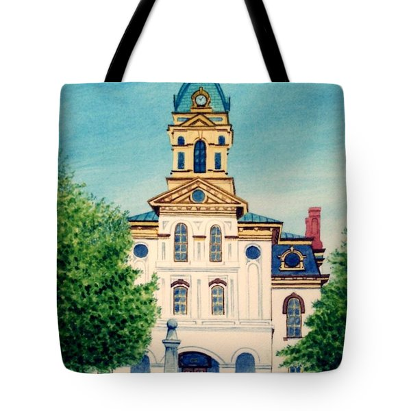 Cabarrus County Courthouse Tote Bag by Stacy C Bottoms