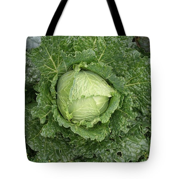 Cabbage And Marigolds Tote Bag