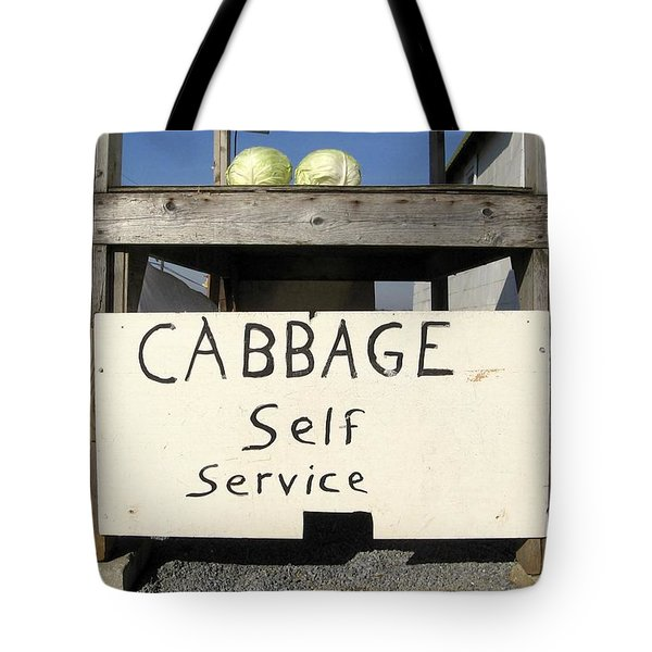 Cabbage Self Service Tote Bag