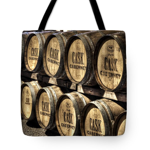 Cabernet Barrels Tote Bag by Diego Re