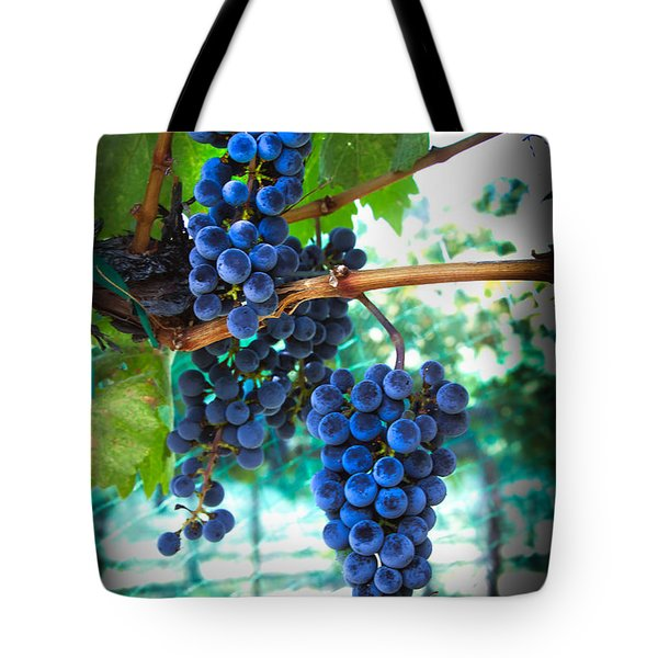 Cabernet Sauvignon Grapes Tote Bag by Robert Bales