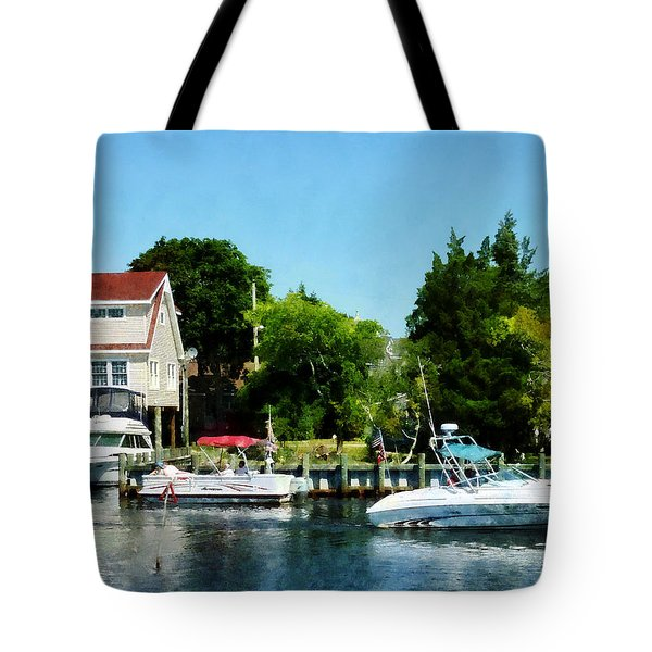Tote Bag featuring the photograph Cabin Cruisers by Susan Savad