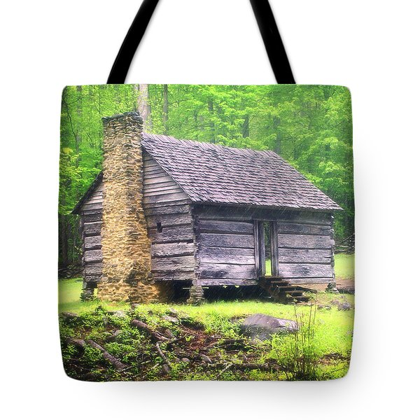 Cabin In The Smokies Tote Bag by Marty Koch
