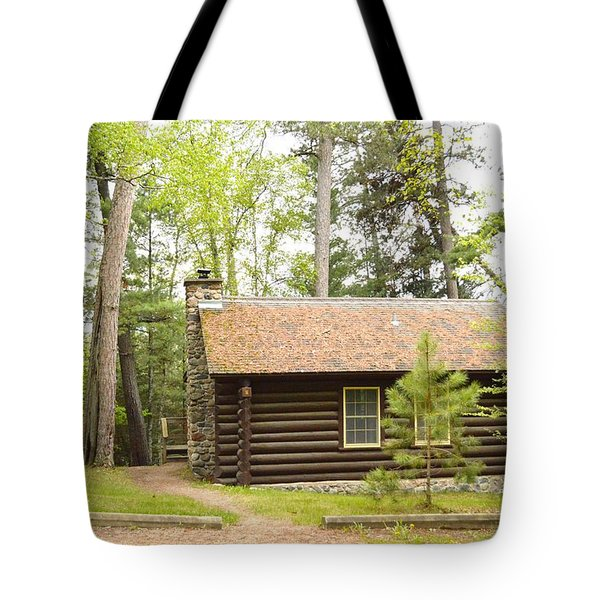 Cabin In The Woods Tote Bag by Dacia Doroff