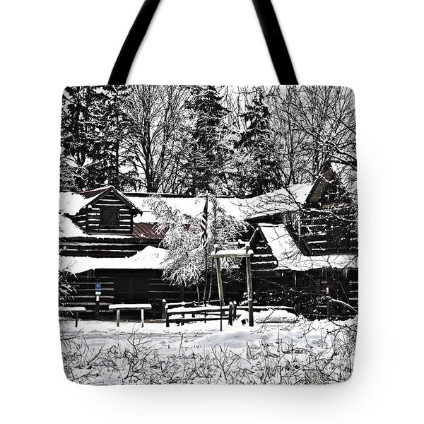 Tote Bag featuring the photograph Cabin In The Woods by Deborah Klubertanz