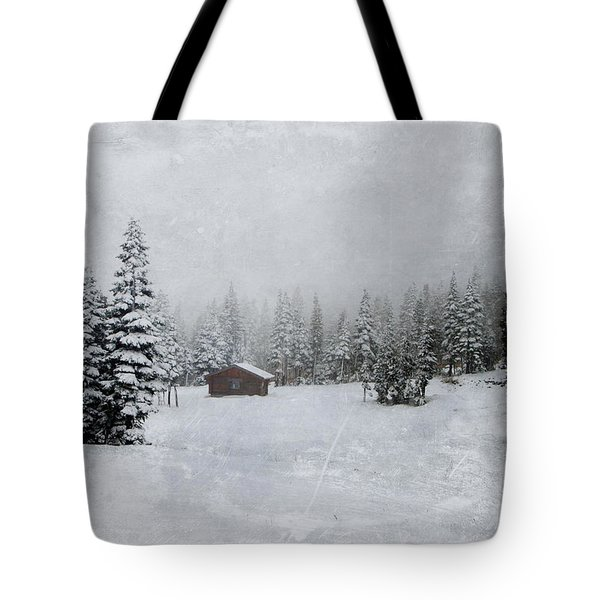Cabin In The Woods-textured Tote Bag