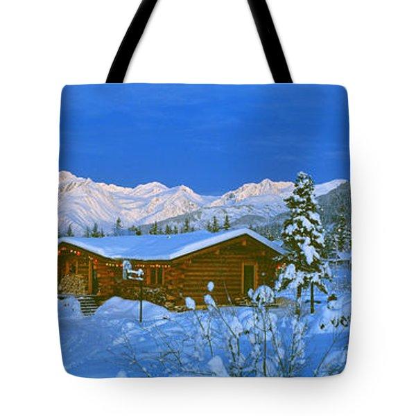 Cabin Mount Alyeska, Alaska, Usa Tote Bag