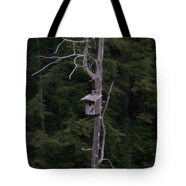 Cabin On Mud Lake Tote Bag