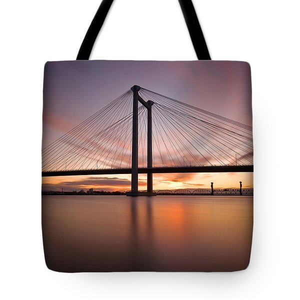 Tote Bag featuring the photograph Cable Bridge by Ronda Kimbrow