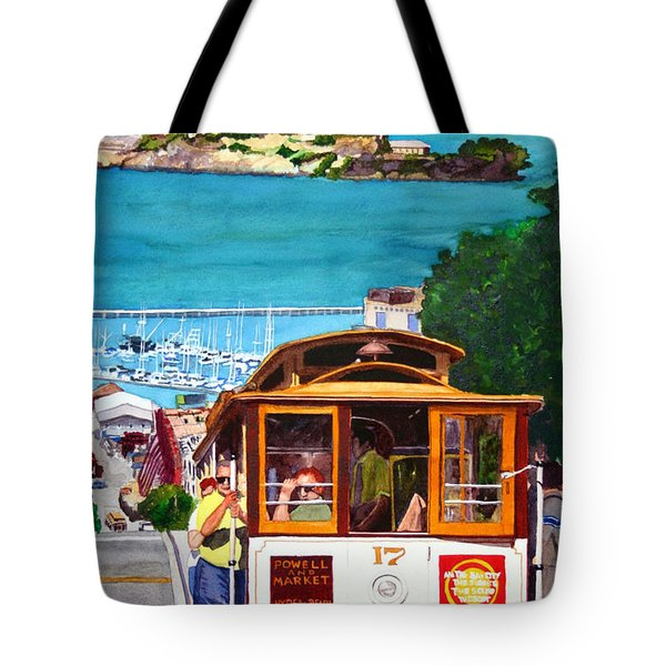 Cable Car No. 17 Tote Bag by Mike Robles