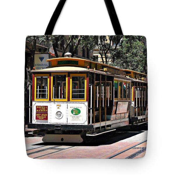 Cable Car - San Francisco Tote Bag