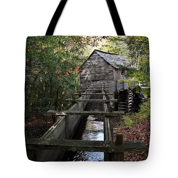 Cable Grist Mill 3 Tote Bag