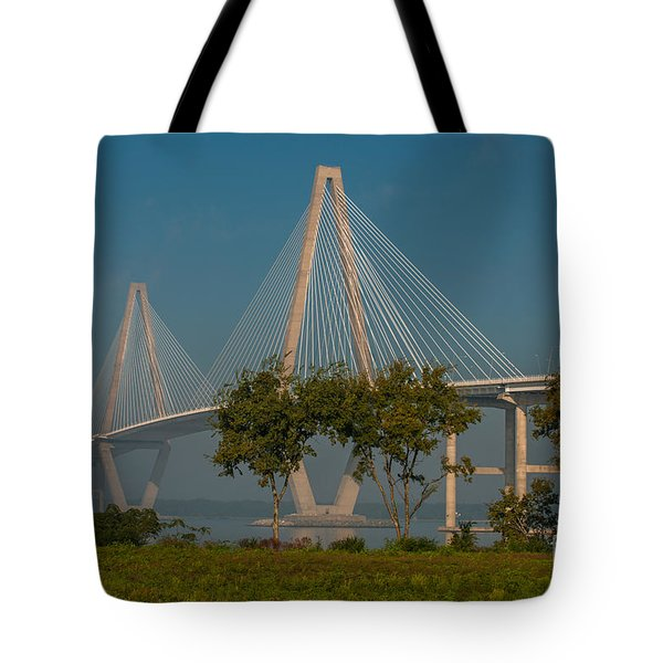 Cable Stayed Bridge Tote Bag