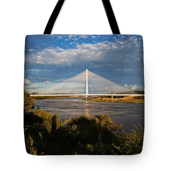 Cable-stayed Bridge Over The River Suir Tote Bag