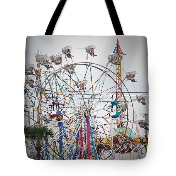 Cables Wires And Wheels Oh Boy Tote Bag by Judy Hall-Folde