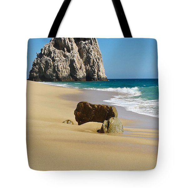 Tote Bag featuring the photograph Cabo San Lucas Beach 2 by Shane Kelly