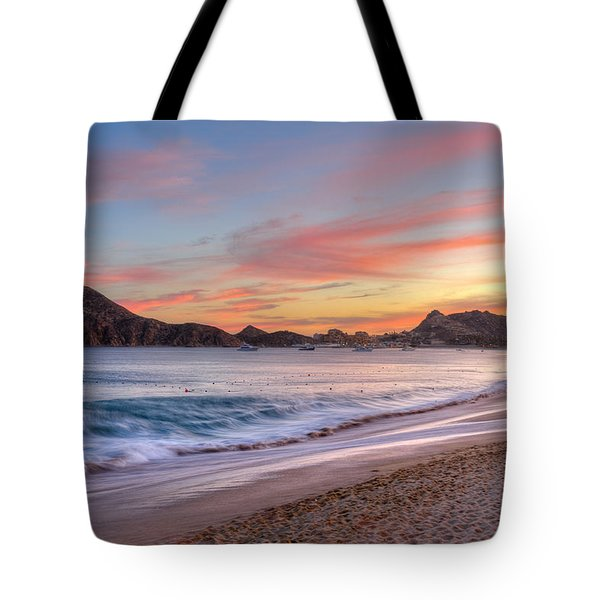 Cabo Sunset Tote Bag by Mark Goodman