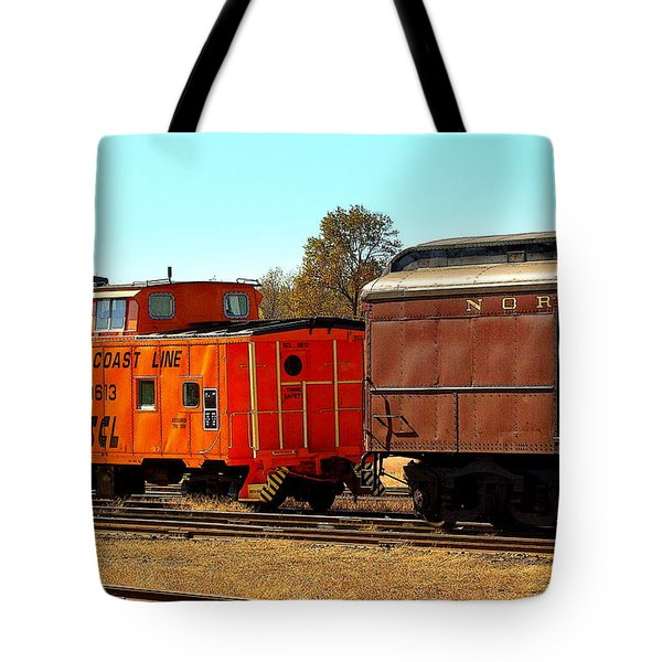 Caboose And Car Tote Bag