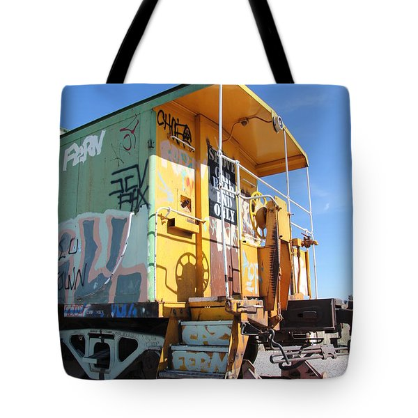 Caboose Tote Bag by Diane Greco-Lesser