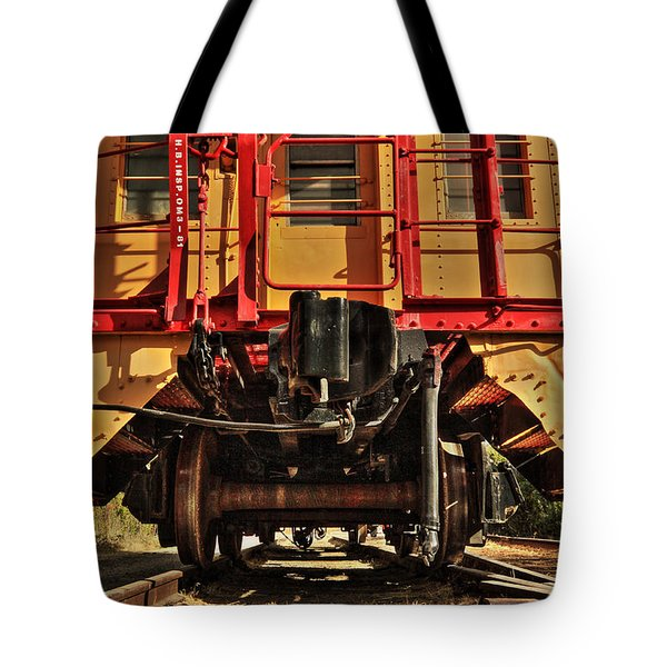Caboose On The Loose Tote Bag by James Eddy