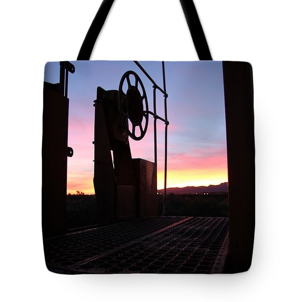 Caboose Waiting Til Dawn Tote Bag by Diane Greco-Lesser