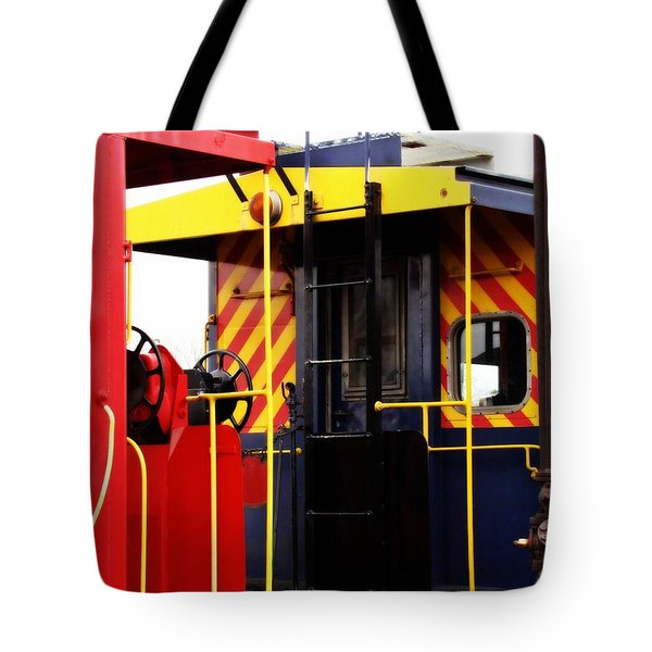 Cabooses Tote Bag by Rodney Lee Williams