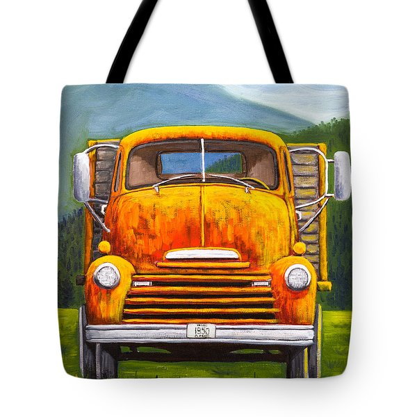Cabover Truck Tote Bag