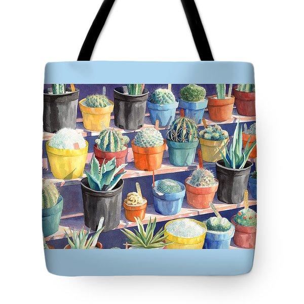 Cacti Chorusline Tote Bag