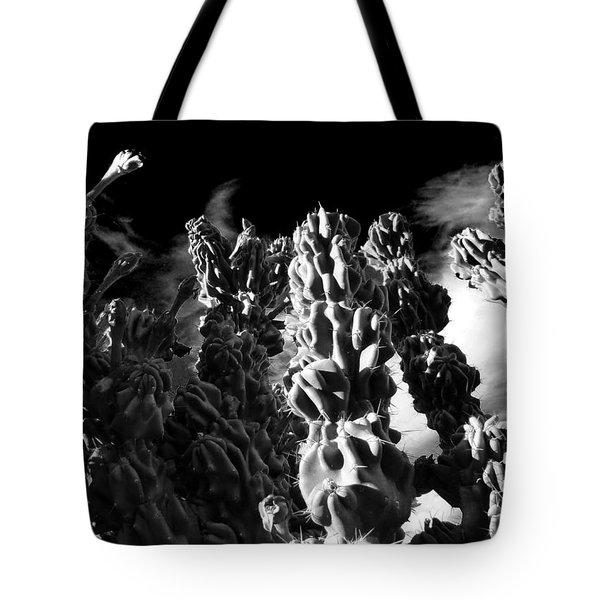 Cactus 1 Bw Tote Bag