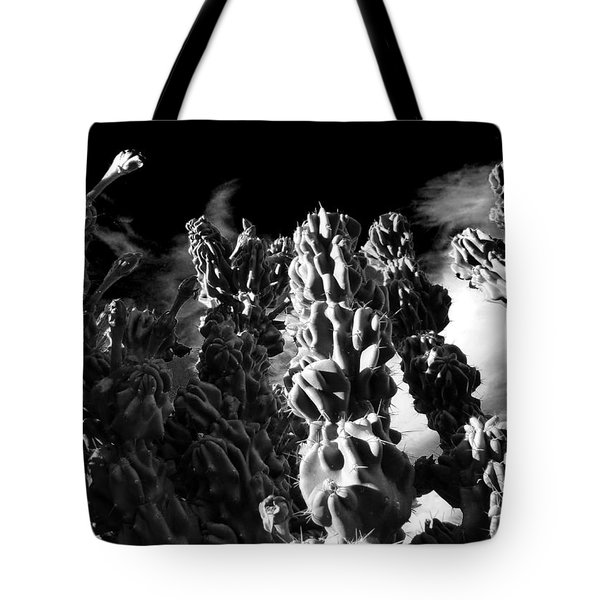 Tote Bag featuring the photograph Cactus 1 Bw by Mariusz Kula