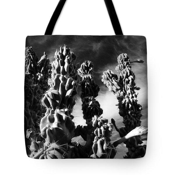 Cactus 2 Bw Tote Bag