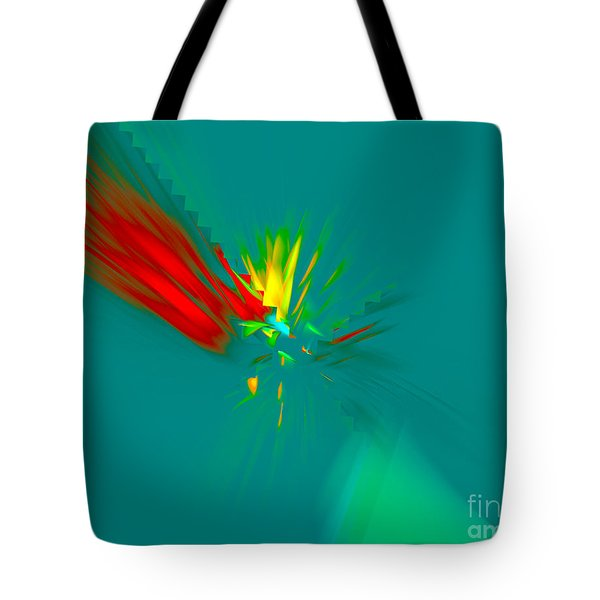 Tote Bag featuring the digital art Cactus Flower by Victoria Harrington