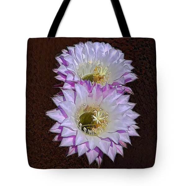 Cactus Flowers Tote Bag by Pamela Walton