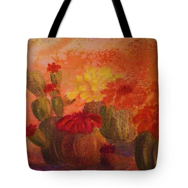 Cactus Garden - Square Format Tote Bag