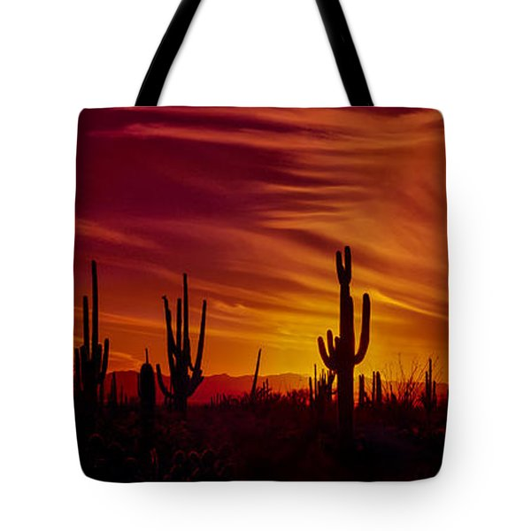 Cactus Glow Tote Bag by Mary Jo Allen