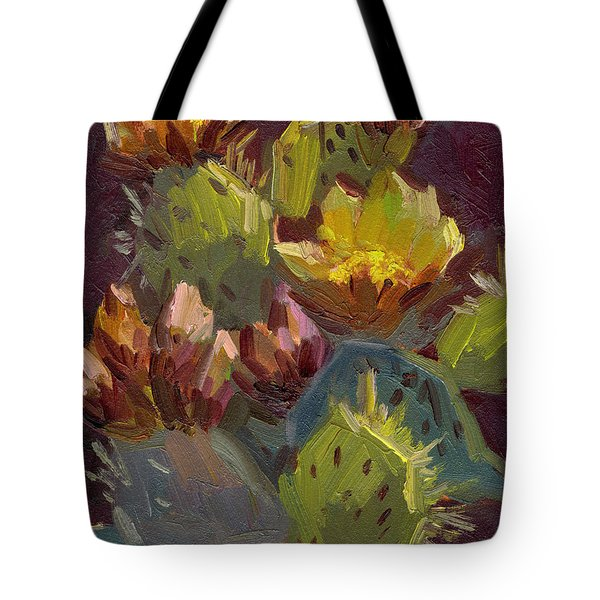 Cactus In Bloom 1 Tote Bag
