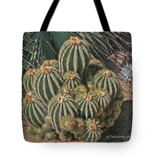Tote Bag featuring the photograph Cactus In The Garden by Tom Janca