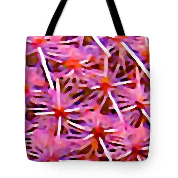 Cactus Pattern 2 Pink Tote Bag by Amy Vangsgard