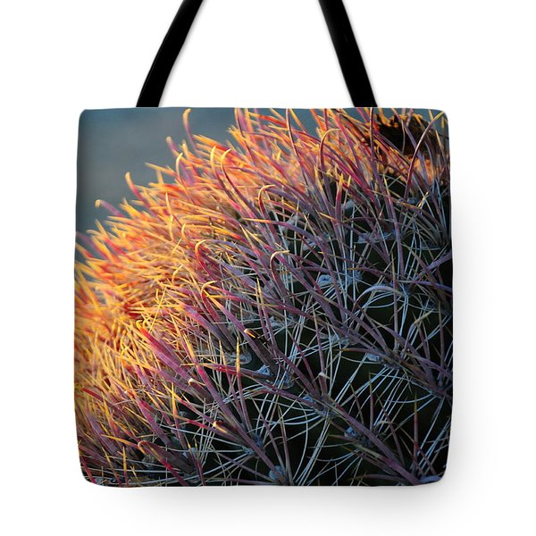 Tote Bag featuring the photograph Cactus Rose by Susie Rieple