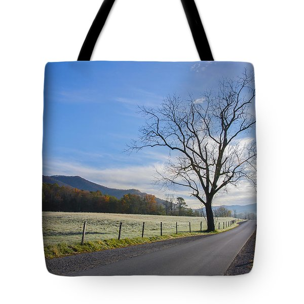 Tree On A Frosty Morn Tote Bag