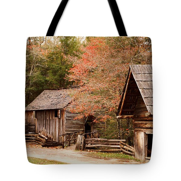 Cades Cove Grist Mill Tote Bag