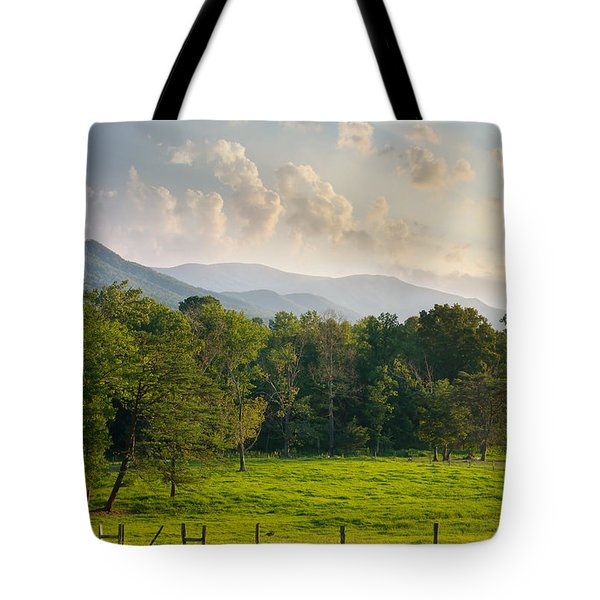 Cades Cove Tote Bag by Melinda Fawver