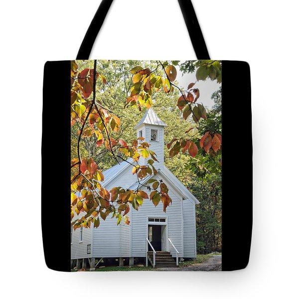 Cades Cove Missionary Baptist Church Tote Bag