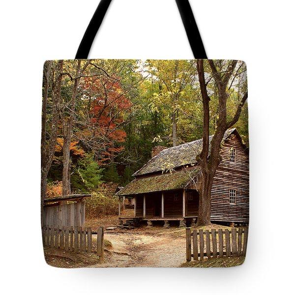 Cades Cove Mountain Home Tote Bag